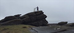 11 of 52 trig points (Ron Layters) Tags: 2017 ronlayters selfportrait 52trigpoints backtor trigpoint badweather rain wind galeforce gritstone tor wet cold gritstonetor darkpeak moorland rocks pillar tp0949 fbs2145 peakdistrict peakdistrictnationalpark bamford derbyshire england unitedkingdom 52weeks 52 phonecamera iphone apple appleiphone6 selftimer tripod 10secondtimer weekeleven week11 11