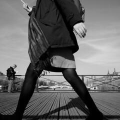 Pont des Arts - 44 (Quidamn) Tags: noiretblanc pontdesarts
