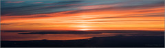 Arran Panorama (mikeyp2000) Tags: scotland sunset amazing isle cloudscape island sky aerial panorama highlands arran clouds