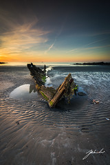 Portavogie Skeleton (jtat_88) Tags: 12neutraldensityveryhardgrad 2017 amateur ardspeninsula beach beached boat coast contrast decay digital filters fishing fullframe golden horizon ilce7 ireland lee leefilters leelandscapepolariser landscape march mirrorlesscamera nature neutraldensity northernireland ocean perspective portavogie rotten sel1635z sand scenic sea seascape ship shore skeleton sony sony1635mmf4variotessartfezaoss sonya7 sunrise vessel wideangle wooden wreck zeiss unitedkingdom gb