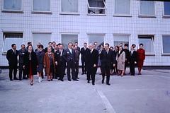 Found Photo - Businessmen & Women (Mark 2400) Tags: businessmen women group photo found 1963