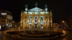 Lviv Theatre of Opera and Ballet (tarmo888) Tags: samsunggalaxy s6edge android smartphone geotaggedphoto geosetter sooc photoimage фотоfoto year2016 nightshot ukraine україна ukrayina украи́на украина lviv lwów lvov lemberg львів львов leopolis lwow unesco panoramalvivhotel