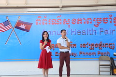 The U.S. Embassy Phnom Penh hosted their annual health fair open to Embassy staff and their families. Take a look at all the health service providers from the area that came to make this a fun and beneficial for all who attended. (USEmbassyPhnomPenh) Tags: us embassy phnom penh host annual health fair theme exhibitors hospitals pharmacies eye care facilities dental clinics donate blood