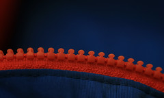 zipper (Marcus Rahm) Tags: macromondays orangeandblue zipper macro makro