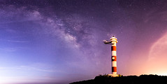 Mixed sky over lighthouse (culina.grgur) Tags: milky way light pollution day canon sigma 1835 f18 long exposure daylight tenerife lighthouse