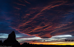 Crimson Turbulence (Bill Bowman) Tags: sunset canyonlandsnationalpark needlesdistrict cheslerpark clouds mesmerized publiclandsforpublicuse