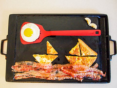 099.365 Keep Your Sunny Side Up, Up (marcy0414) Tags: project365 spatula food frenchtoast egg collage foodcollage sunnysideup sailboat