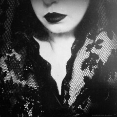 Never be gone...[www.madalinabarna.com] (Madalina Barna) Tags: portrait selfportrait woman girl blacklips pale mourning grief sorrow longing remember memories love pain lovewithnoend black dark darkness noir blackandwhite art fineart artwork mono monochrome lace veil