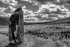 Silent Witness (Jon_Wales) Tags: bronzeage breconbeacons nationalpark megalith standingstone wals welsh cymru spring moss lichen age sandstone powys ystradfellte