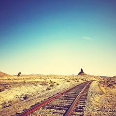 to the land of poop emoji (Maureen Bond) Tags: iphone ca maureenbond poop emoji desert train tracks hot sohot roadtrip rocks mars snakes scorpions