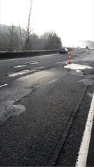 Failed pavement on southbound I-5 near Kalama (WSDOT) Tags: pavement damage pavementrepair i5 southbound kalama woodland wsdot construction