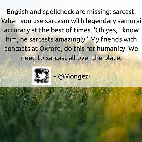My very limited English now has 'sarcast'. More English added to repertoire. #sarcast #sarcasm #language