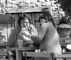 Gossip..... (Fire*Sprite*75) Tags: street ladies cafe women chat phone seat gossip