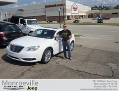 Monroeville Chrysler Jeep would like to say Congratulations to Karel Pienaar on the 2013 Chrysler 200 Series (Monroeville Chrysler Jeep) Tags: new car sedan truck wagon happy pittsburgh jeep pennsylvania used vehicles pa bday chrysler van minivan monroeville suv coupe dealership shoutouts hatchback dealer customers 4dr 2dr preowned
