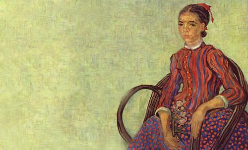 """La Mousmé, estilización de Vincent van Gogh (1888), transpolación de Pablo Picasso (1937). • <a style=""""font-size:0.8em;"""" href=""""http://www.flickr.com/photos/30735181@N00/8805023465/"""" target=""""_blank"""">View on Flickr</a>"""