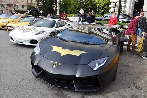 batventador lamborghini aventador lp 700 4 matte black gold rush rally 2013 san - Lamborghini Aventador Gold And Black