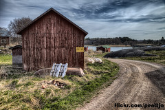 Fishing village Kkar (penttja) Tags: road travel light canon suomi finland landscape boat colorful bluesky hdr fishingvillage aland land ahvenanmaa kkar