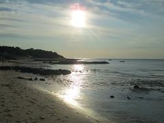 Sun on rocks, Breakwater Beach, Brewster (wrightrkuk) Tags: sun reflections capecod massachusetts newengland brewster lowtide lowsun breakwaterbeach