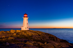 Peggy's Cove Lighthouse at Night (jeff_a_goldberg) Tags: canada night novascotia clear peggyscove peggyscovelighthouse peggyspointlighthouse