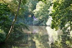 time for reflection.. (mag2003...) Tags: trees house lake reflections boat arboretum surrey national trust godalming winkworth