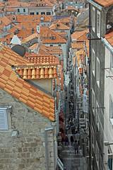 Dubrovnik Alleyway (TonyKRO) Tags: architecture croatia alleyway dubrovnik stonesteps narrowstreet historictown stonebuildings tiledroofs