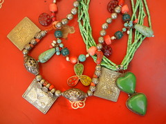 lovely old and new turkmen and uzbek necklaces