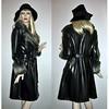 60s 70s Vintage Spy Girl Trench Coat (Covet And Love It Vintage) Tags: black vintage mod 60s trenchcoat spy 70s hippie pvc