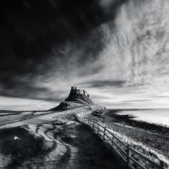 Lindisfarne Castle, Holy Island (Alistair Bennett) Tags: seascape castle sunrise mono coast rocks shadows northumberland holyisland lindisfarne canonef1740mm4lusm gnd075he