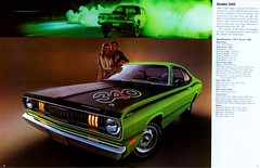 1971 Plymouth Duster 340ci (Rickster G) Tags: 1969 ads 1974 1971 flyer 60s plymouth convertible literature transit duster 70s valiant 1970 hemi mopar twister sales 1972 brochure rapid 440 1973 rallye musclecar compact 340 426 383 4406 sixbarrel scatpack