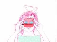 mira (Daniele Dirio) Tags: illustration design dani mira ilustrao trao publicao dirio
