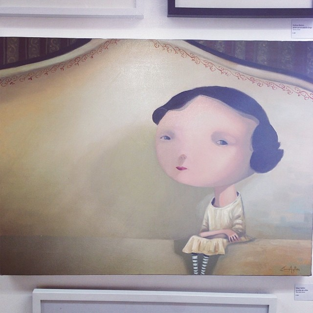 """""""La Niña del Sillon"""" de César Ayllón $500 • Bazarte #bazarte #arteenlima #artinlima #arte #art #artist #artista #pintura #painting"""