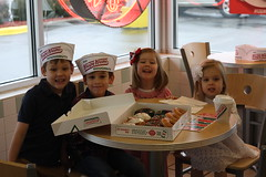 Happy 6th birthday Patrick! (alex.lettie) Tags: birthday december patrick jackson krispykreme donuts penny amelia 2013