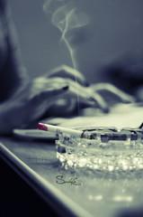Cigarette (Sulafa) Tags: hands cigarette smoke working chatting