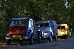 3 in a row (Roberto Braam) Tags: auto autumn classic dutch car mobile vintage french duck nikon europa europe thenetherlands meeting citron voiture charleston event international deux 2cv delivery vehicle oldtimer van 14th ente iconic eend besteleend geit lieferwagen chevaux aircooled citrola leersum azu wagen vehikel 1
