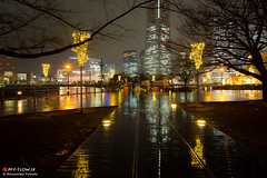 Promenade on a Rainy Day (Masahiko Futami) Tags: city reflection water rain japan architecture night canon asia photographer illumination 日本 yokohama 横浜 建築 建物 sakuragityou 夜 みなとみらい minatomirai21 雨 桜木町 反射 イルミネーション 都市 みなとみらい21 eos5dmarkiii