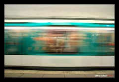 JACQUES BONSERGENT....TRANSPARENT METROPOLITAN, PARIS (DIAZ-GALIANO) Tags: paris france speed canon slow metro dream francia metropolitan sueo mygearandme