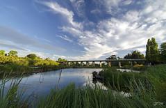 South Esk River ~ Perth, Tasmania (glendamaree) Tags: bridge summer nature water clouds river nikon perth tasmania