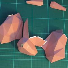 วิธีทำโมเดลกระดาษเรขาคณิตรูปกระต่าย (Rabbit Geometric Papercraft Model) 020
