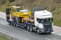 SN13 OYR (Cammies Transport Photography) Tags: truck lorry flyover scania a90 unmarked inverkeithing hillfield r560 sn13oyr