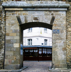 Through the Normandy arch (Breatnac Photography) Tags: old stone wall photography arch fortification normandy breatnac