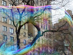 ship prow (candidecoating) Tags: nyc newyorkcity trees streetart art spring rainbow streetperformers centralpark bubbles rainbows