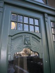 Art deco door frame (quinet) Tags: door canada berlin vancouver britishcolumbia porte artdeco tr 2014