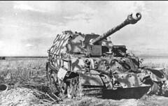 The wreck of a German SAU Ferdinand