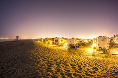 Silver Strand State Beach at night. Our Evo trailer on the right. (slworking2) Tags: california unitedstates coronado