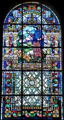 Albert (Somme) - Basilique Notre-Dame de Brebires (fin XIXe) - Vitrail (de Jacques Gruber) (Morio60) Tags: gruber albert notredame vitrail 80 picardie basilique vitraux somme brebires