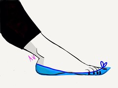 BLUE PLASTIC FLAT (MARK WHITE007) Tags: ballet ballerina shoes pointy flat sandals flats heels mules slippers