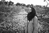portrait with yellow flowers and almond trees (gorbot.) Tags: portrait blackandwhite rangefinder sicily roberta sicilia lightroom f19 mmount leicam8 voigtlander28mmultronf19 vscofilm
