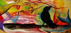 Lo que se queda, lo que fluye por las manos (Felipe Smides) Tags: painting muerte rìos vida cuerpos sangre pintura ballenas heridas cachalotes pàjaros smides felipesmides