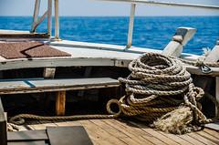 Rope (Melissa Maples) Tags: sea summer water ferry turkey boat nikon asia mediterranean trkiye rope nikkor vr afs  18200mm butterflyvalley  f3556g  18200mmf3556g kelebeklervadisi d5100