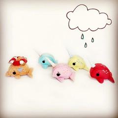 """Stop chasing me!""  #handsewn #handmade #toyphotography #toydiaries #chasingmissrainbow #dolphin #narwhal #mini #narwhalplush #plush #miniatureprop #blythefriend #blythetoy #pullipfriend #photoprop #nautic #nautical #plush #plushie #dollprop (Chasing Miss Rainbow) Tags: life wool square miniatures miniature friend doll dolphin felt plush squareformat kawaii accessories feltro lover companion hefe lifesaver narwhal saver feltros narwhals iphoneography instagramapp uploaded:by=instagram"